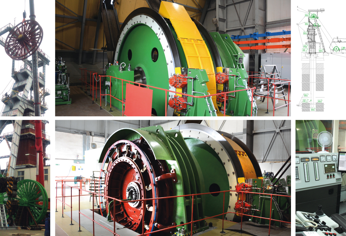 Comprehensive modernization of the mining cage hoist in the R-VII shaft of KGHM Polska Miedź S.A. Branch