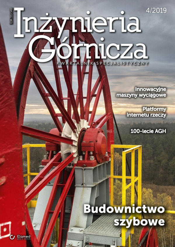 Publication of our article in no. 4/2019 issue of a specialist quarterly Inżynieria Górnicza (The Mining Engineering)